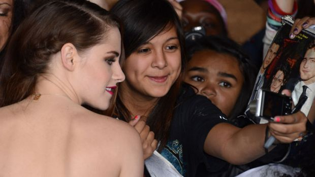 """Actress Kristen Steweart arrives at the premiere of Summit Entertainment's""""'The Twilight Saga: Breaking Dawn Part 2"""" at ..."""