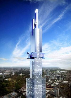 The proposed Australia 108 tower.
