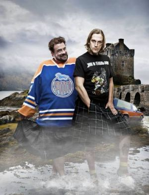 Kevin Smith, left and Jason Mewes during their tour of Britain and Ireland.
