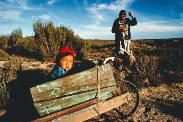 A woman and her grandson look for firewood in Baja, California, Mexico. Photo: Annie Griffiths Belt/National Geographic