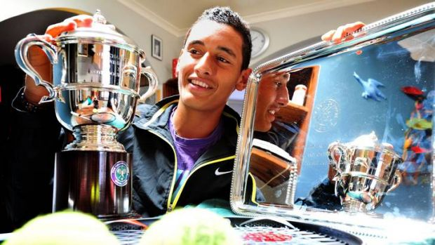 On the search for more silverware ... Canberra's Nick Kyrgios.