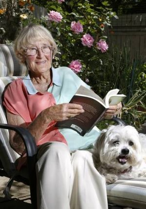 Good book ... Val McLaughlan from Kaleen has just retired from the Home Library Service after almost 30 years.