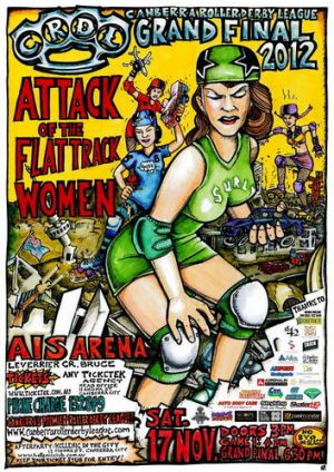 Tonight ... The Canberra Roller Derby League finals are on from 4pm.