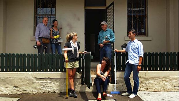 Volunteers (L-R) John Murray, Min Dark, Genevieve Murray, Kate Walsh, Ken Oates and Tim Magdalino  have banded together ...
