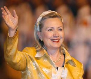 US Secretary of State Hilary Clinton.