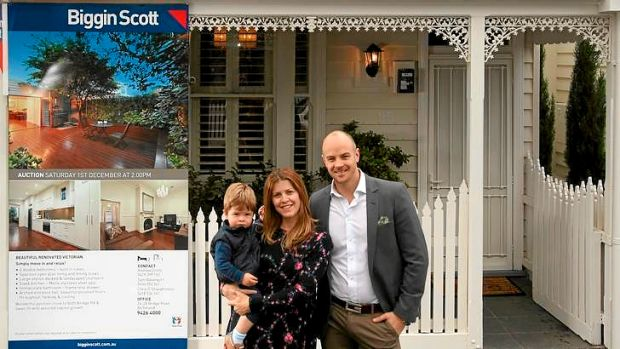 Filling the stocking: Trichelle Jordan, with husband Ben and son Oliver, is hoping for a pre-Christmas sale of their ...