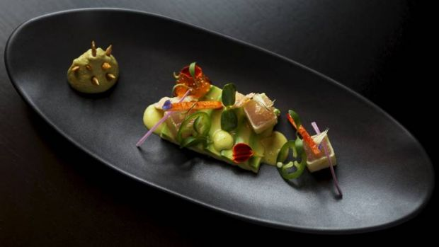 Cellar Bar serves luxe Latin fare, such as ceviche albacore tuna sashimi.