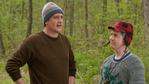 Tightly knit ... Jason Segel and Chris Parnell in <i>Five Year Engagement</i>
