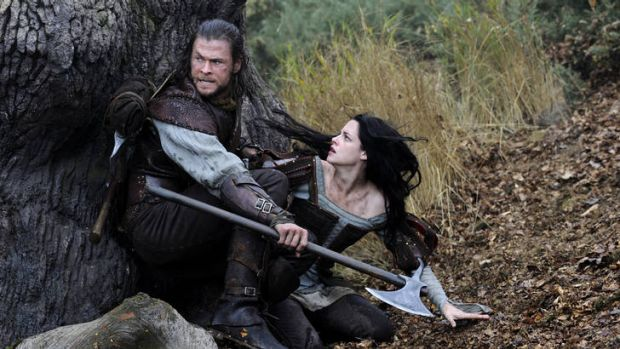 Chris Hemsworth and Kristen Stewart in Snow White and the Huntsman.