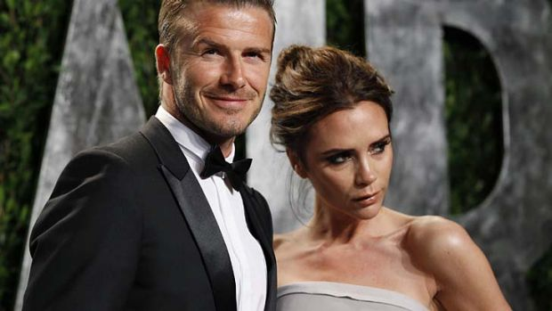 From Beverly Hills to Baulkham Hills ... David Beckham and his wife Victoria.