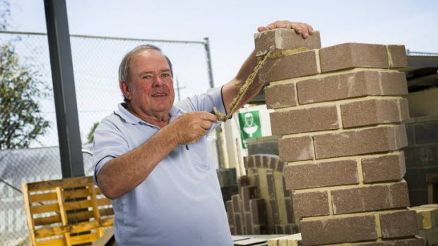 Experienced bricklayer and CIT teacher, Brian Lawrence.