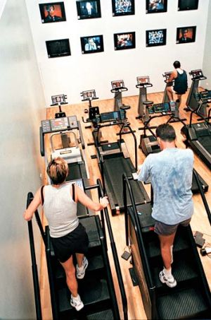 Feel the burn … gym members may lose out on upfront fees.