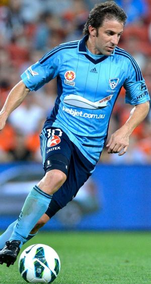 Skills to burn … Alessandro Del Piero against the Roar.