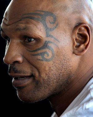 Just visiting … controversial former world heavyweight boxing champion Mike Tyson in Sydney on Saturday.