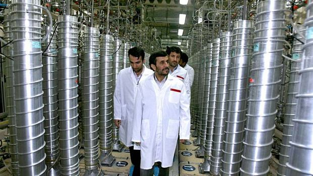 Iran picks up speed ... Iranian President Mahmoud Ahmadinejad tours one of its uranium facilities.
