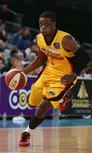 On guard: Jonny Flynn in action for the Melbourne Tigers.