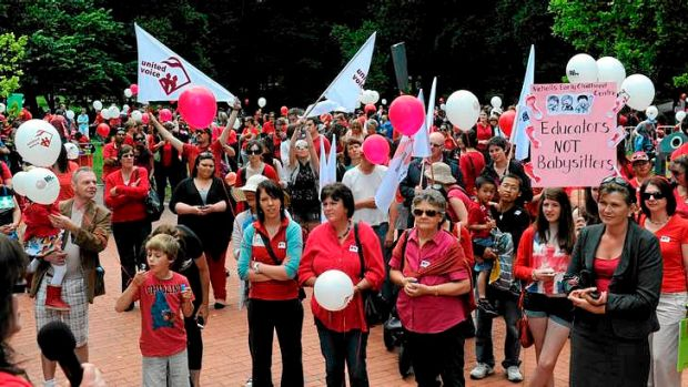 The National Big Steps Family Day Rally at Glebe Park.