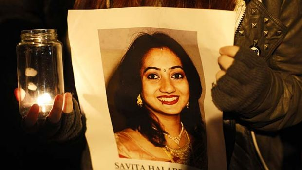 """One person's religious freedom must end where it hurts another's right to health or happiness - or, as in [Savita] ..."