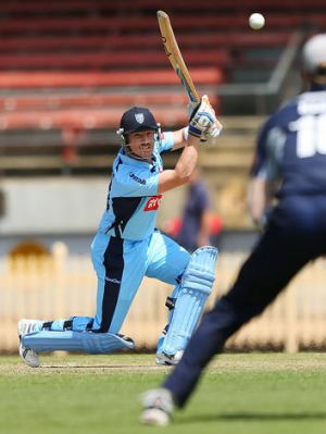 Hitting out: NSW's Brad Haddin makes a quickfire 35.