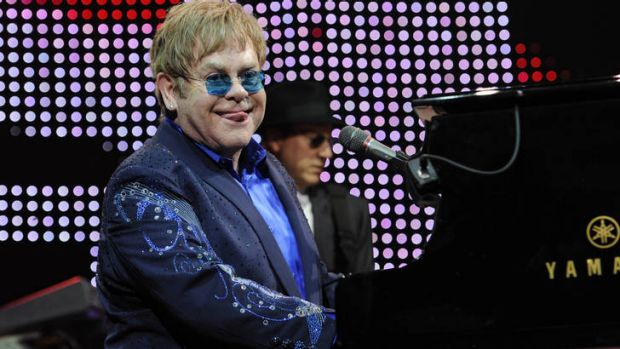 Sir Elton John performs at Rod Laver Arena.