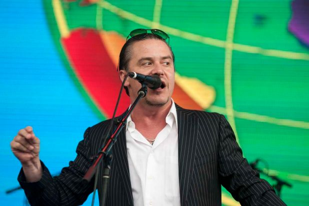 Mike Patton's Mondo Cane performs at the 2012 Harvest Festival.
