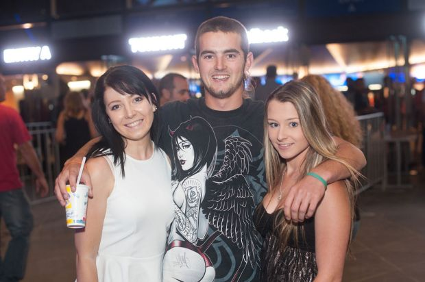 Nickelback fans before the Perth show.