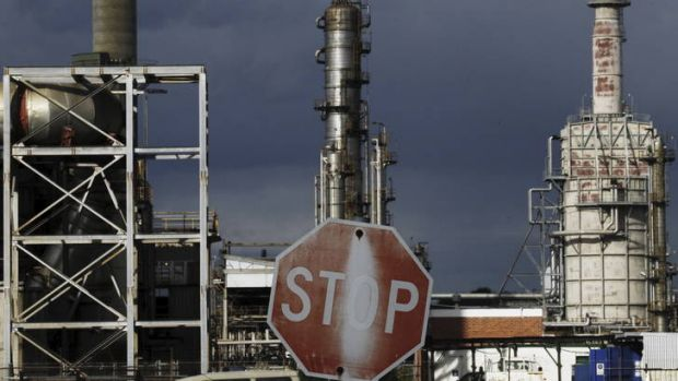 Shutting up shop ... the Kurnell refinery was one of two to close in Sydney this year.