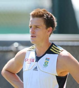Early warning ... Morkel vowed to test Clarke.
