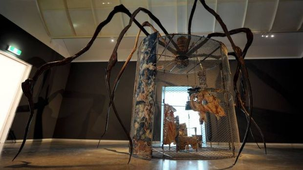Louise Bourgeois' spider sculpture at the Heide Museum of Modern Art.