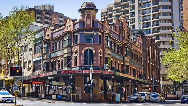 Sold ... the Macquarie Hotel in Wentworth Avenue, Surry Hills, known as the Schwartz Brewery.