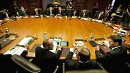 NEWMAN AFR PHOTOGRAPH BY GLENN HUNT 10042012.NEWS- Campbell Newman and the LNP cabinet  have their first meeting in ...