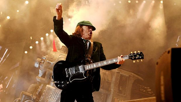 AC/DC, formed by Angus Young (above) and his brother Malcolm, has previously refused to release music through iTunes.