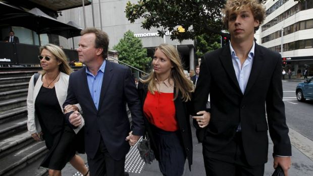 Judgement day ... Madeline Pulver and her family arrive at court for sentencing of Paul Peters.