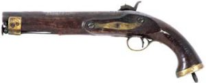A pistol believed to have been owned by Dan Kelly will go under the hammer.