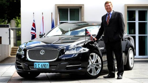 A big Bond fan... British High Commissioner to Australia in Canberra, Paul Madden.