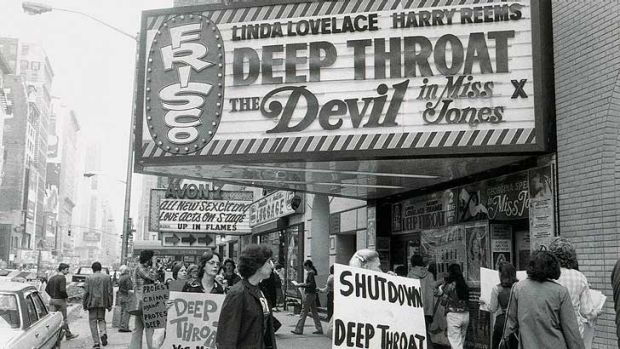 Women took to Time Square to protest against <i>Deep Throat</i> during its initial run in cinemas.
