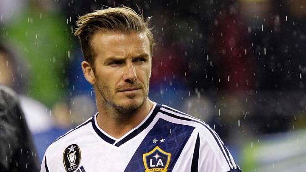 Leaving Los Angeles: Three A-League clubs would love to have David Beckham come and play.