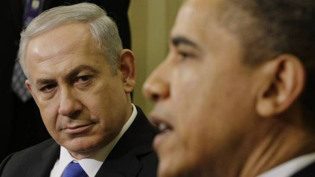 Strained history ...  President  Obama  with Israel's Prime Minister Benjamin Netanyahu in  March 2012. Mr Netanyahu ...
