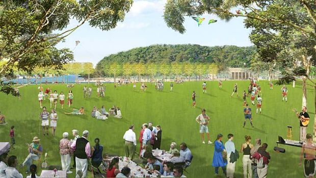 Plans have been lodged for a public promenade at Barangaroo Central.