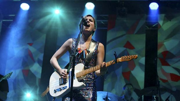 Blocked no more ... Missy Higgins at Splendour in the Grass earlier this year.