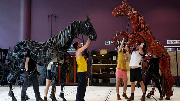 Head, heart and hind ... puppeteers bring horses to life.