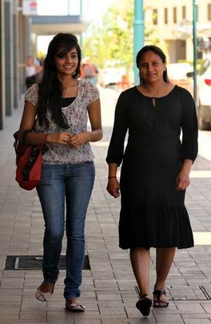 Swati (right) who is pregnant and her niece Shruti (left) were assaulted in an aggravated robbery yesterday afternoon at ...