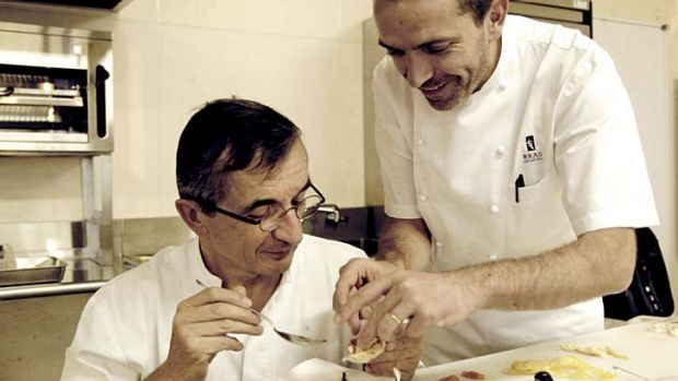 Shakespearean drama in the kitchen ... father and son chefs Michel and Sebastien Bras.