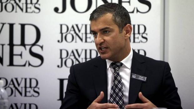 Testing times ... David Jones boss Paul Zahra facing a continued profit slide.