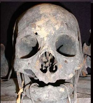 Ancient skull ... a trophy to Filipino head hunters.