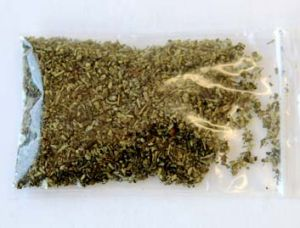 A packet of synthetic THC.