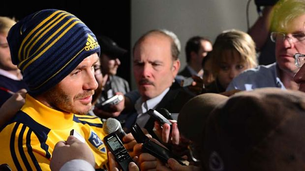 A-what? … David Beckham has been the centre of unprecedented rumour-mongering by Australian football media.