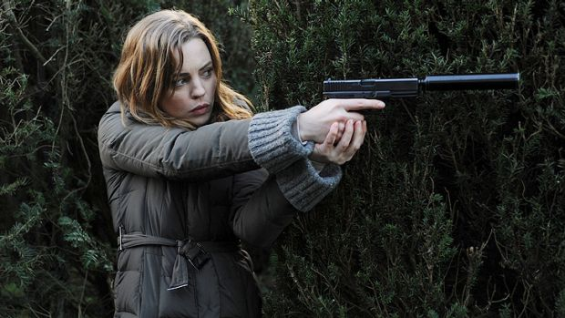 Melissa George stars in the spy thriller <i>Hunted</i>.