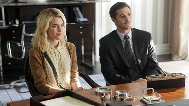 Australian actress Rachael Taylor, left, stars in horror series <i>666 Park Avenue</i>. The show, which airs on Foxtel, ...