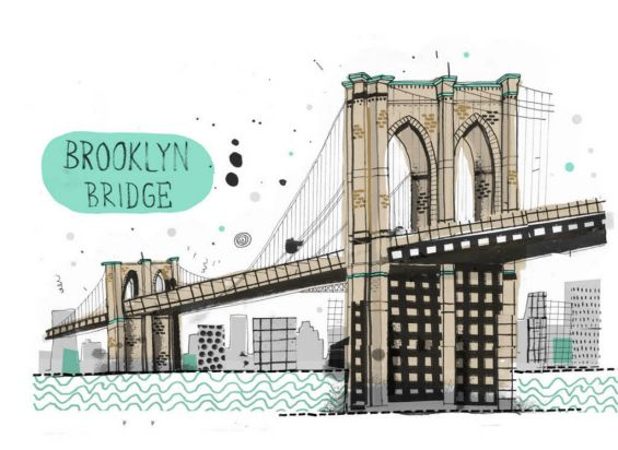 The Brooklyn Bridge, Brooklyn, NY. February 24, 2012, In Brooklyn, Manhattan.